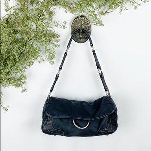 Prada Nylon & Leather Shoulder Bag 🌿